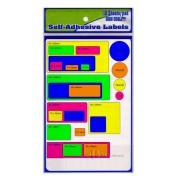 Colour Self Adhensive Labels 25mm x 25mm