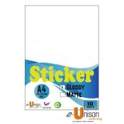 Glossy Sticker A4