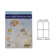 Abba Laserjet Label 105mm x 148mm A4