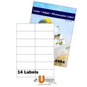 Abba Laserjet Label 105mm x 42.3mm A4