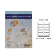 Abba Laserjet Label 99.1mm x 33.8mm A4