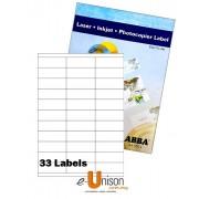 Abba Laserjet Label 70mm x 25mm A4