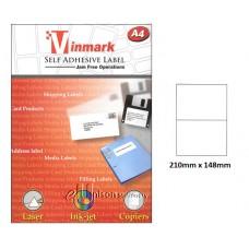 Vinmark Laserjet Label 210mm x 148mm A4