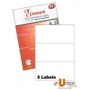 Vinmark Laserjet Label 210mm x 99mm A4
