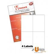 Vinmark Laserjet Label 105mm x 148.5mm A4