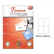 Vinmark Laserjet Label 105mm x 148.5mm A4
