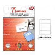 Vinmark Laserjet Label 200mm x 70mm A4