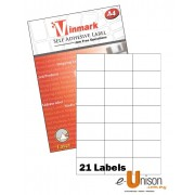 Vinmark Laserjet Label 70mm x 42.43mm A4
