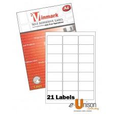 Vinmark Laserjet Label 63.5mm x 38mm A4