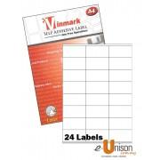 Vinmark Laserjet Label 70mm x 34mm A4