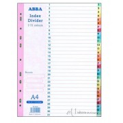 Colour Index Divider 1-31