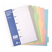 CBE PP Colour Index Divider 5 Tabs