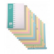 CBE PP Colour Index Divider 12 Tabs