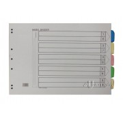 Colour Index Divider 5 Tabs A3