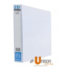 PVC 2D Ring File 40mm A4 White