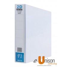 PVC 2D Ring File 50mm A4 White