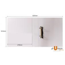 PVC 2D Ring File 65mm A4 White