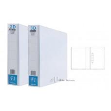 PVC 3D Ring File 50mm A4 White