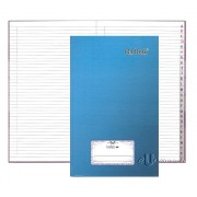Hard Cover Foolscap Index Book 400pgs