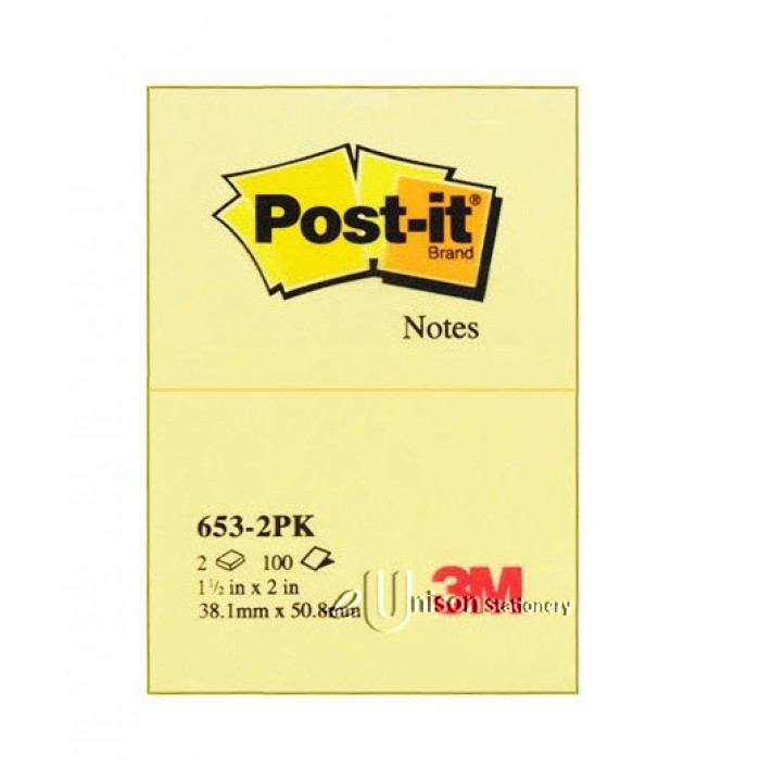3M POST IT NOTES STICKY 76mm X 76mm IN 100 SHEET PADS X 4 PADS