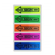 Transparent Sticky Note 5's Sign Here