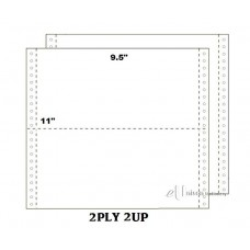 """Computer Form 9.5"""" x 11"""" 2 Ply 2 Up NCR"""