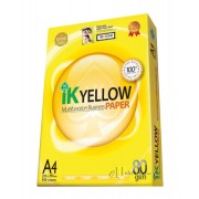 IK Yellow Multi Purpose Paper A4 80gsm 450's (box of 10 reams)