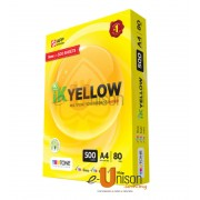 IK Yellow Multi Purpose Paper A4 80gsm 500's (box of 5 reams)