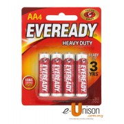 Eveready Heavy Duty Battery AA 4's