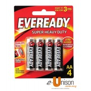 Eveready Super Heavy Duty Battery AA 4's