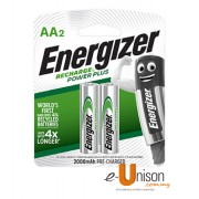Energizer Recharge Battery AA 2000mAh 2's