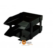 Plastic 2-Tier Document Tray
