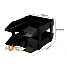 Plastic 2-Tier Document Tray